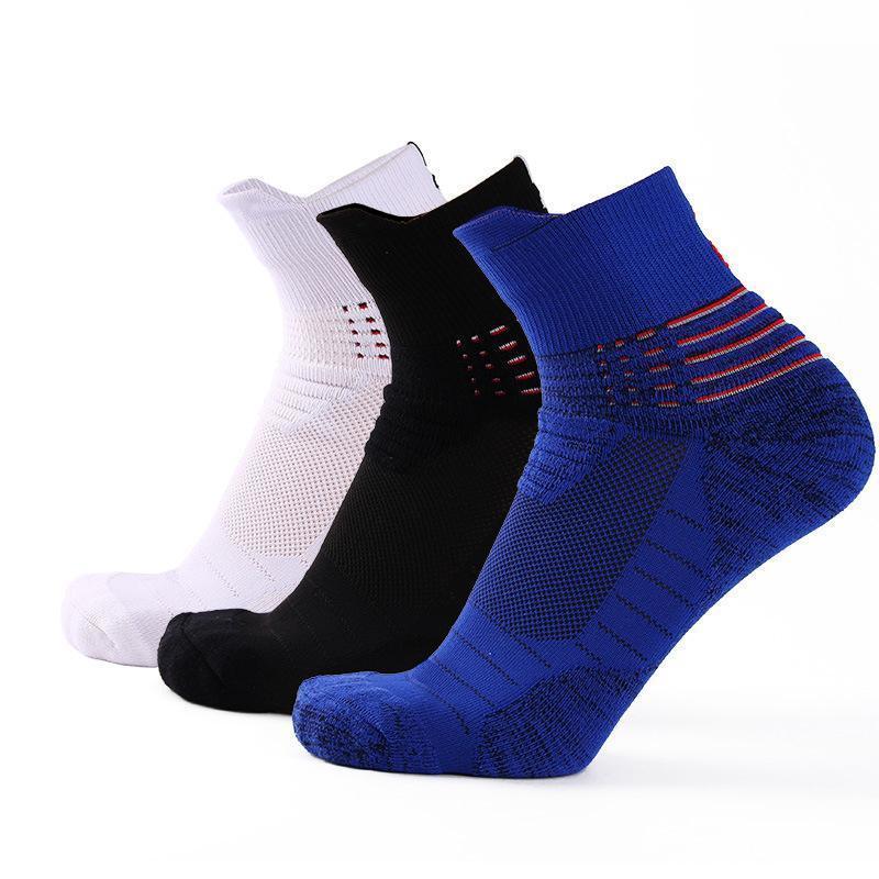 3 coppie di pallacanestro di alta qualità calze da uomo moda all'aperto sportivo per il tempo libero scarpe traspiranti antiscivolo Assorbimento maschio calzini maschi