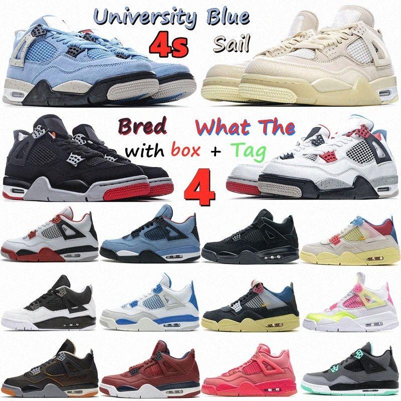 University Blue Jumpman 4 mens sapatos de basquete vela preto gato puro dinheiro criado fogo obsidiano vermelho cacto un Unc starfish homens mulheres 4s sportlsiu #