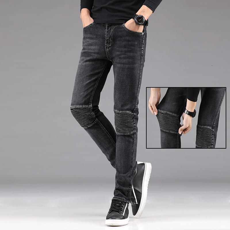 2021 New Herren Denim Männliche Vintage Black Hose NY Jeans Man Pantalones Hombre Männer Bleistift Hosen 7FKI