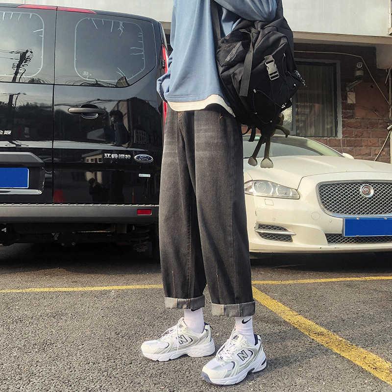 Primavera 2021 New Jeans Allentati Casual Gioventù moda uomo e pantaloni dritti da uomo e da donna