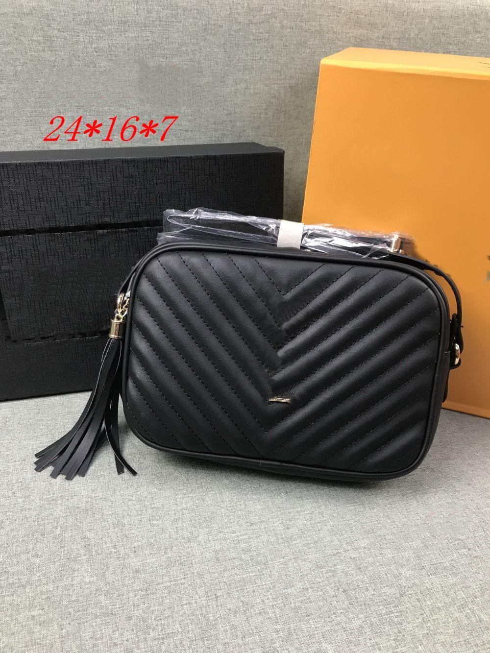 Top Quality Handbag Wallet Handbaga Womens Bolsas Moda Sacos Cross Body Soho Baga Disco Saco De Ombro Fringed Messenger Bagse Bagse 24 cm