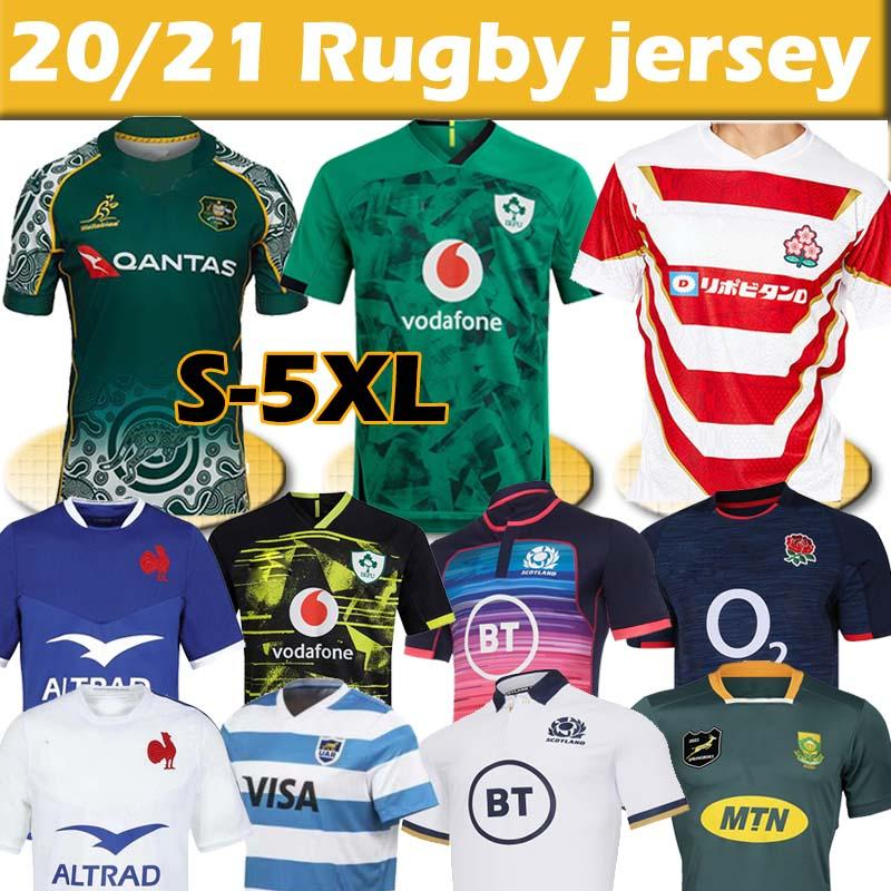 2021 Weltmeisterschaft Irland Japan Australien Argentinien Schottland Rugby Jersey Irische Nationalmannschaft Rugby Trikots Männer Home Away Polo Shirts Uniform