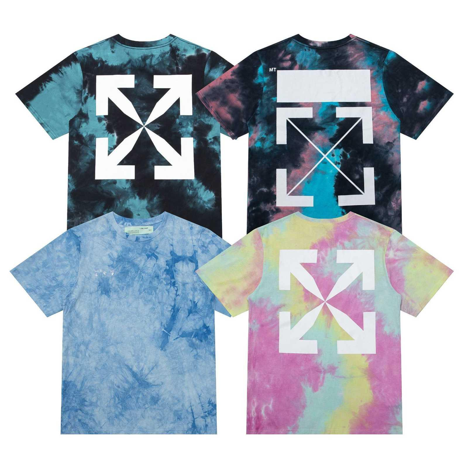 Off Wihte с коротким рукавом Новый модный бренд 2021 мужской и женский стиль повседневной простой свободной пары универсальная футболка