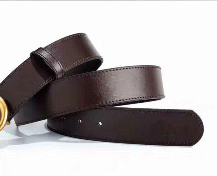 Cinture di cuoio Designer cinture da uomo Donne Cinture da uomo Lettera reale Best Quality Best Quality Belts Business Business Belt con scatola 6Style Spedizione gratuita
