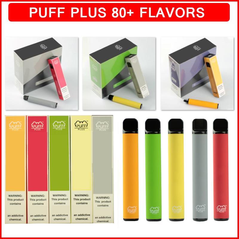 Puff Bar Plus Plus Colreable Vape E Cigarette 80+ Цвета 800 Заголовок 550 мАч Батарея Предварительно заполненная 3.2 мл ЖИДвищные картриджи Картридж Ecigs Vapes Pen Device Ecigarette Puffbars Bars