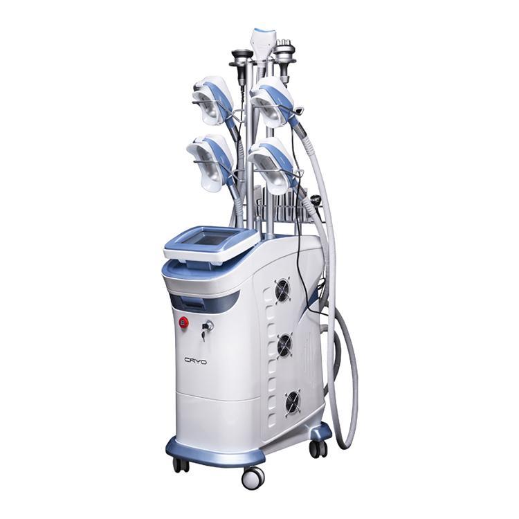 9 في 1 أربعة مقابض تعمل معا 360 درجة cryolipolysis الجسم آلة التخسيس الدهون تجميد المعدات تجهيز مع أحدث مقبض تجميد