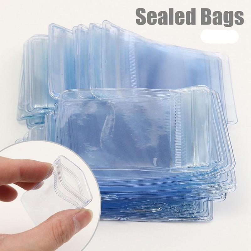 50/100 / 200X Sacos de plástico pequenos sacos transparentes de plástico transparente saco de armazenamento claro novo poli claro