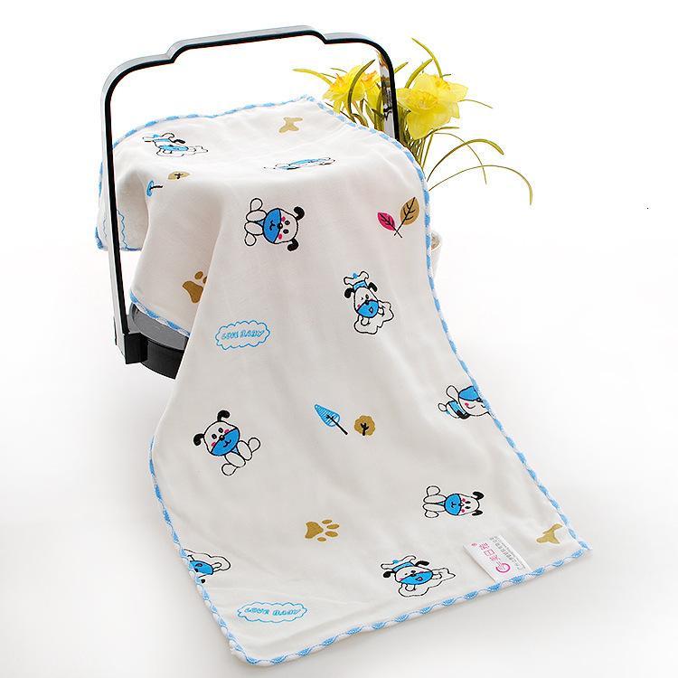 Шесть слой марля детское лицо мытье слюны детский сад мультфильм детское полотенце бамбуковое волокно