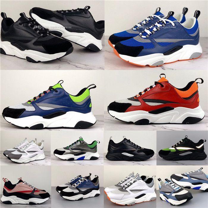 Dior shoes Lady Kalın Soled Rahat Ayakkabılar Deri Bayan Sneaker Harfler Dantel-up Dolaşık Eğitmenler Klasik Siyah Erkekler Platformu Patchwork