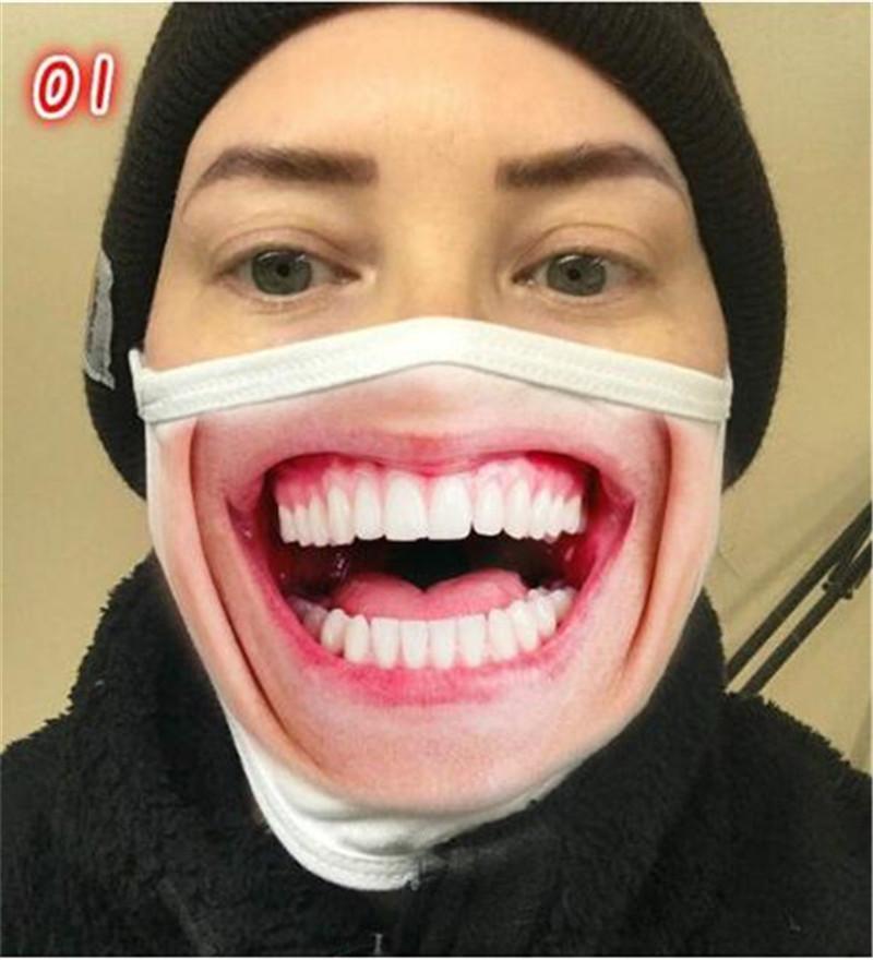 قابلة لإعادة الاستخدام ثلاثية الأبعاد الطباعة الكرتون قناع الوجه قناع الفم مضحك القناع الغبار على الأشعة فوق البنفسجية قابلة للغسل الجري ركوب قناع الوجه