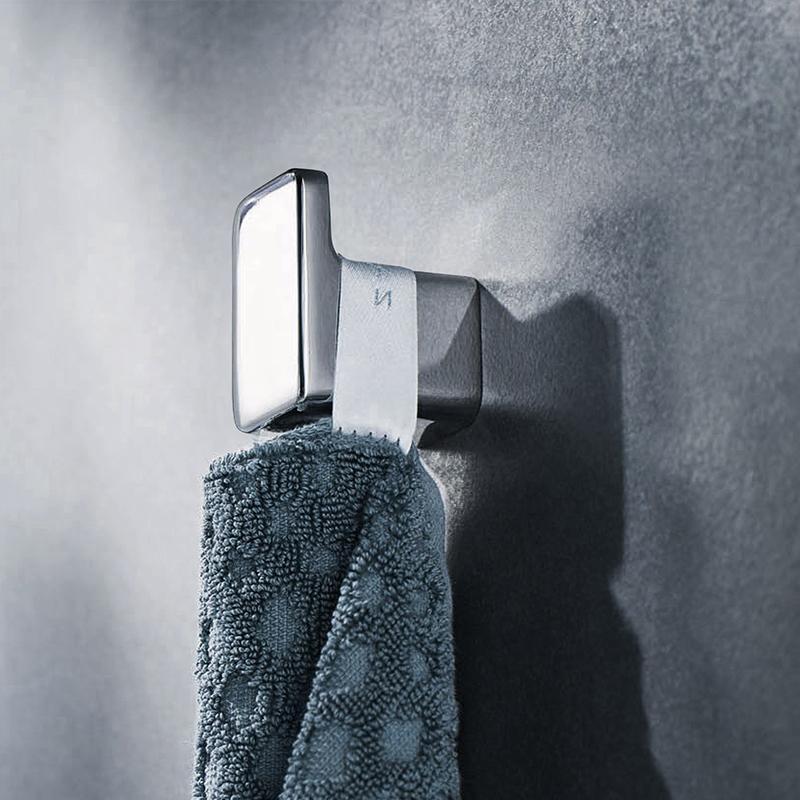 Single Robe Hook Wall-Mounted Hat Clothes hanger towel coat holder Bathroom Accessories For Bedroom /Livingroom 2pcs Zinc chrome