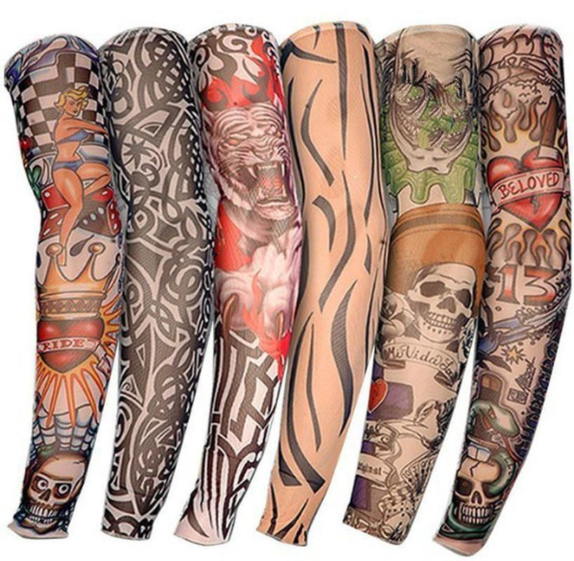 1PIC Tatuaje Mangas de Moda Diseño de Moda Para Niño Nylon Cabrillero Estirado Tatuaje Temporal Mangas Tatuajes Arte