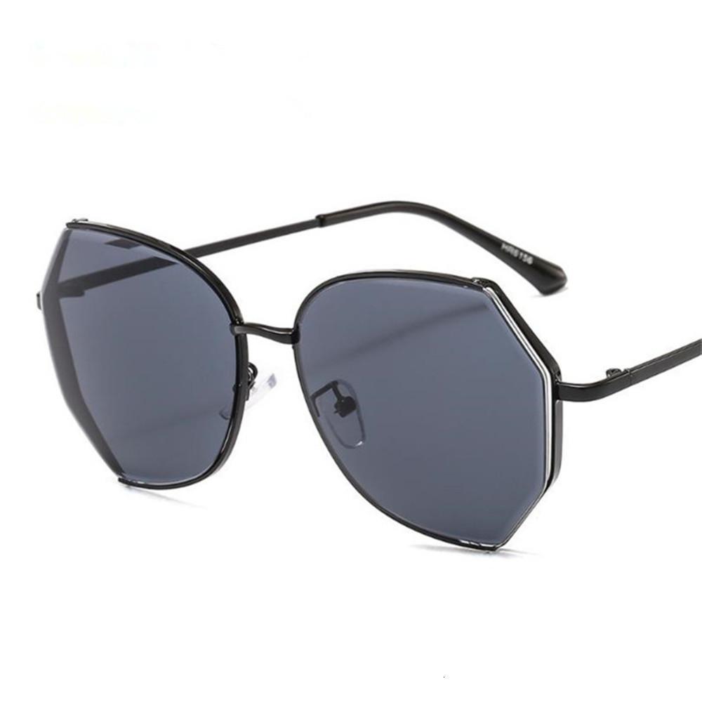 Gläser Mode Frauen Gradient Farbe Sonnenbrille Unregelmäßige Polygon Sun Anti-UV-Brillen Brillen Adumbral Goggle Sonnenbrille
