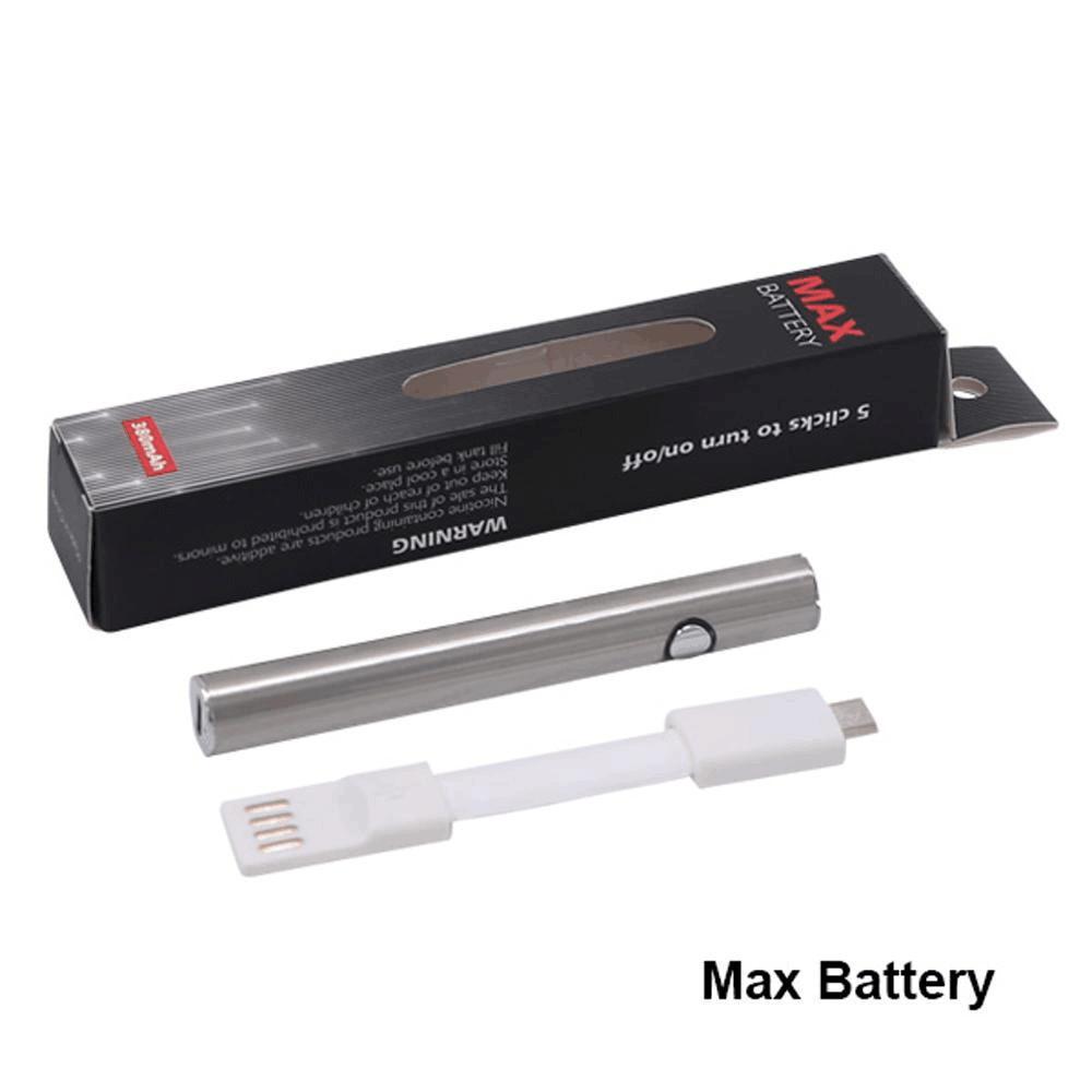 510 Thread kit E Cigarette Vape Pen Max Battery Preheat Variable Voltage 380mAh VV Batteries 2 Colors