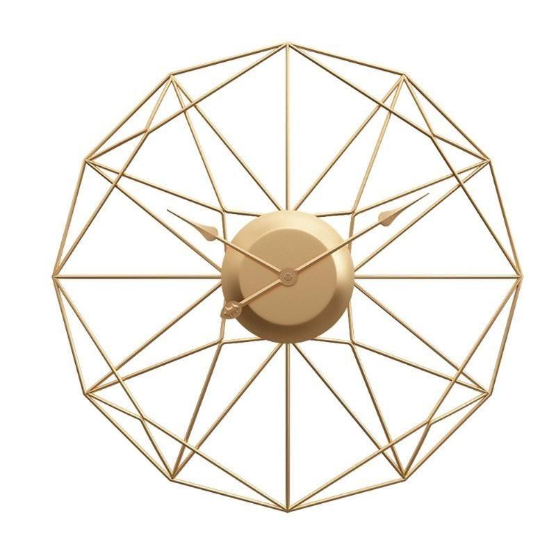 Usine directe vente nouveau produit créatif mode métal horloge murale amazon vente chaude salon salon horloge