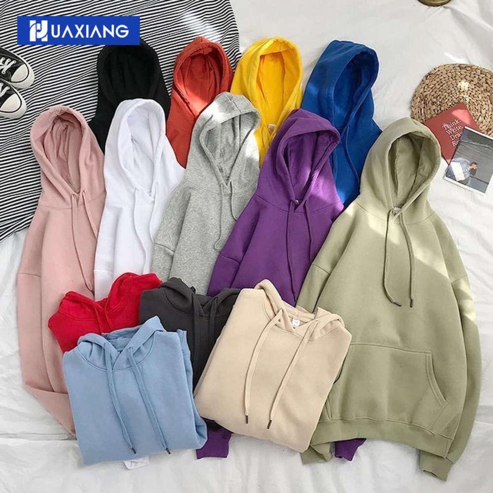 Осень зима плюшевая пальто сплошной цвет с капюшоном свитер свободный и универсальный повседневный капюшон мужская корейская мода