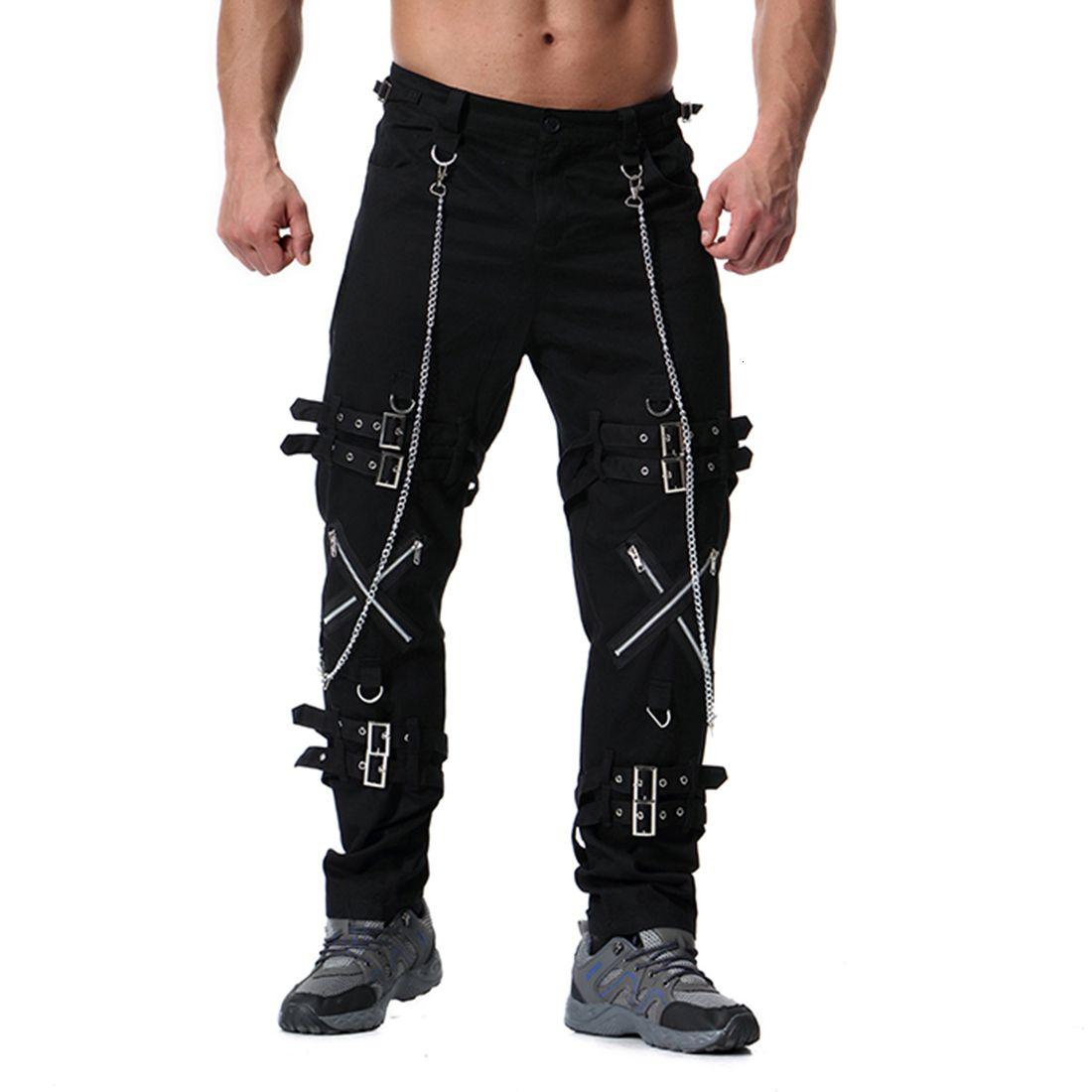 New Muti Zippers Uomo Cargo BAGGY Casual fitness uomo pantaloni pantaloni pantaloni 2021 Summer Streetwear Mens Joggers Pantaloni B8XM IUCB