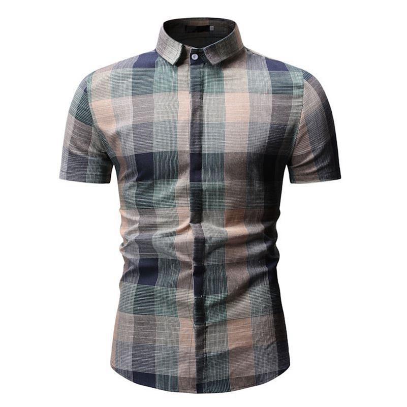 Erkek Moda Birinin Ahlak Yetiştirmek Kısa Kollu Erkek Gömlek Baskı Adam Gömlek Yaz Mar8 210706