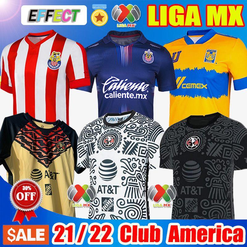 Nouveau 19 20 21 Maillots de football du Club America 2020 2021 Maillot du club du Mexique Xolos de Tijuana Tigres UNAM Guadalajara Chivas Cruz Azul kit Maillots de football