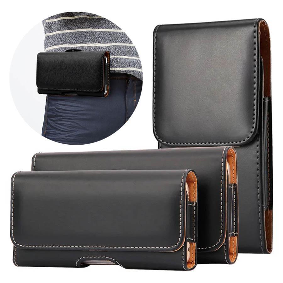 Clip Belt PU Custodie per telefono in pelle PU per iPhone 13 Pro 11 SE XR Samsung Huawei Xiaomi BAG BAG BAG COVER COVER