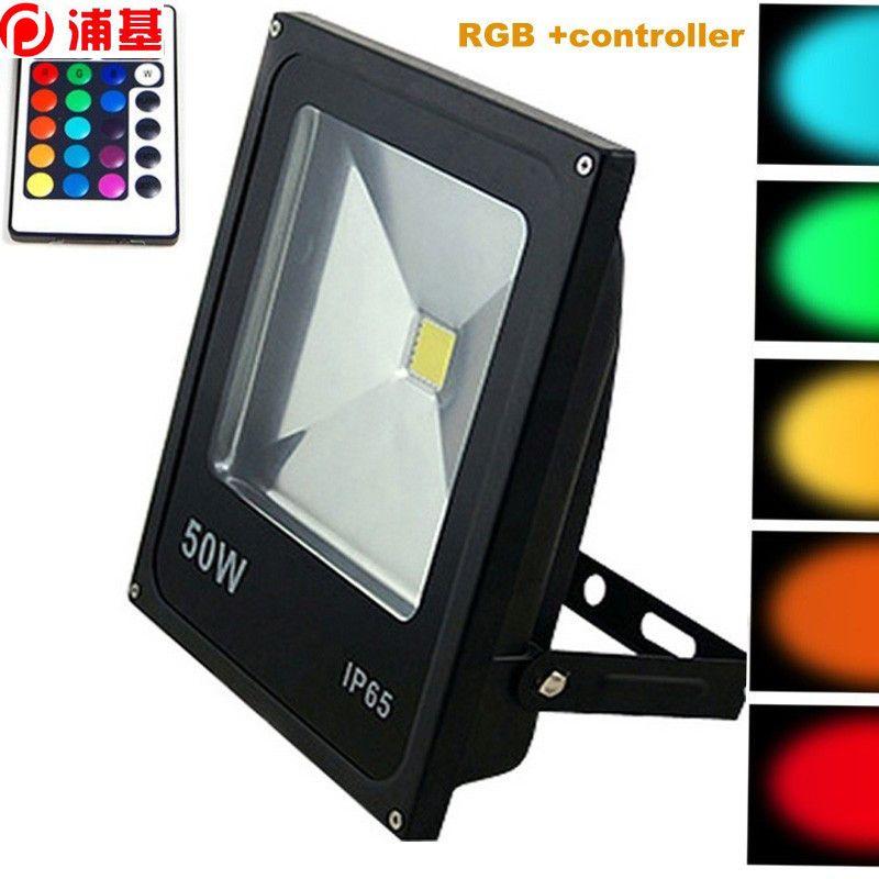 Светодиодный прожектор 10W 20W 30W 50W на открытом прожекторе AC85-265V RGB теплый белый прохладный белый с ИК-пультом дистанционного управления 16 красочный