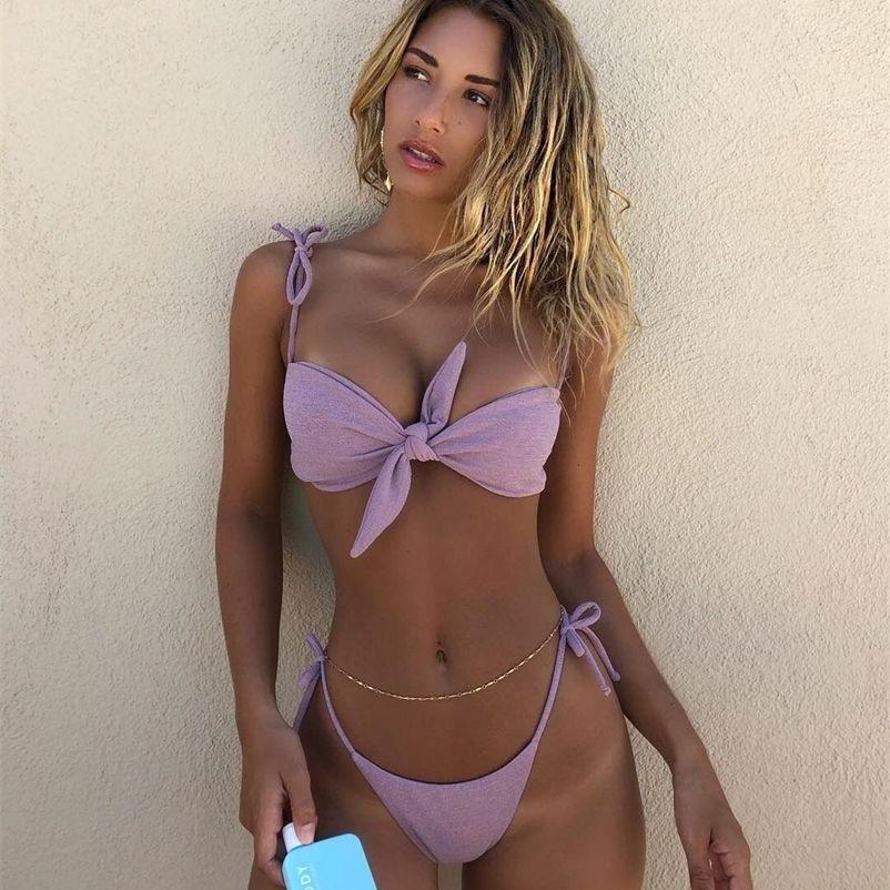 New Womens swimsuit Bikini Sexy Split Swimwear European And American Fashion Beachwear Summer Spa Beach Surf Sport 210317
