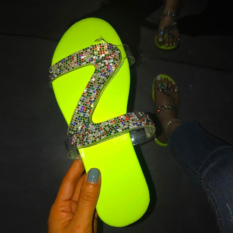 Женщины Сандалии Платформа Женщина Рим Новый 2021 Мода Женская Обувь Летний Горный Хрусталь Сандалии Обувь Женщины Флип Флоп Чауссуры Femme