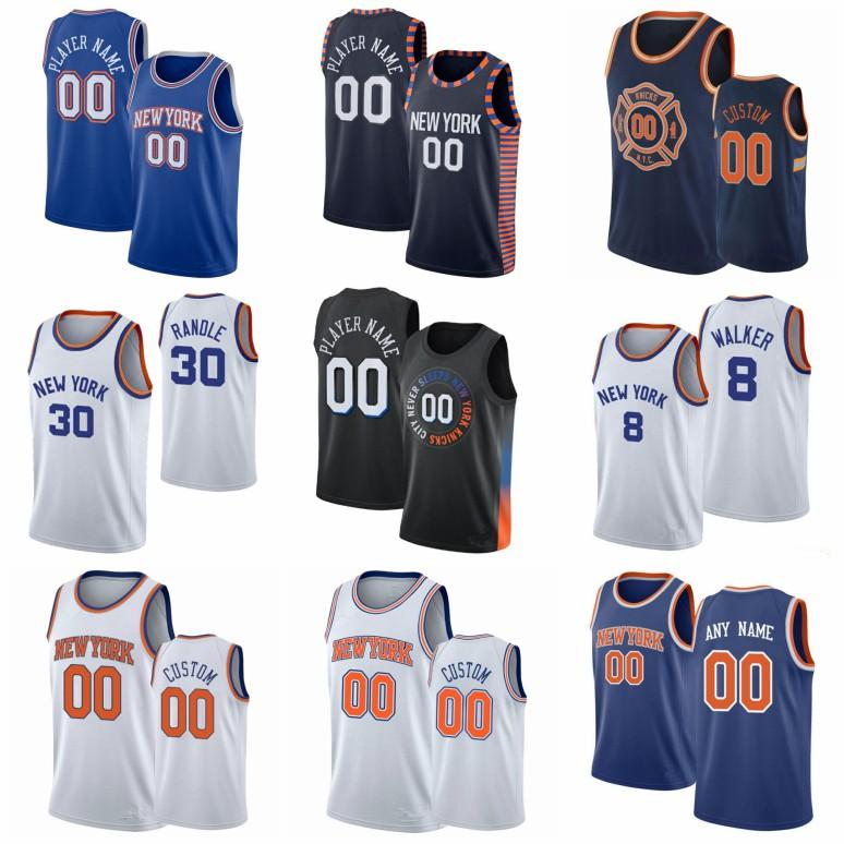 مخصص OBI 1 Toppin Julius 30 Randle كرة السلة جيرسي RJ 9 باريت ميتشل 23 روبنسون ديريك نيويوركنيكسرجل روز إيمانويل 5 Quickley Elfrid 6 بايتون