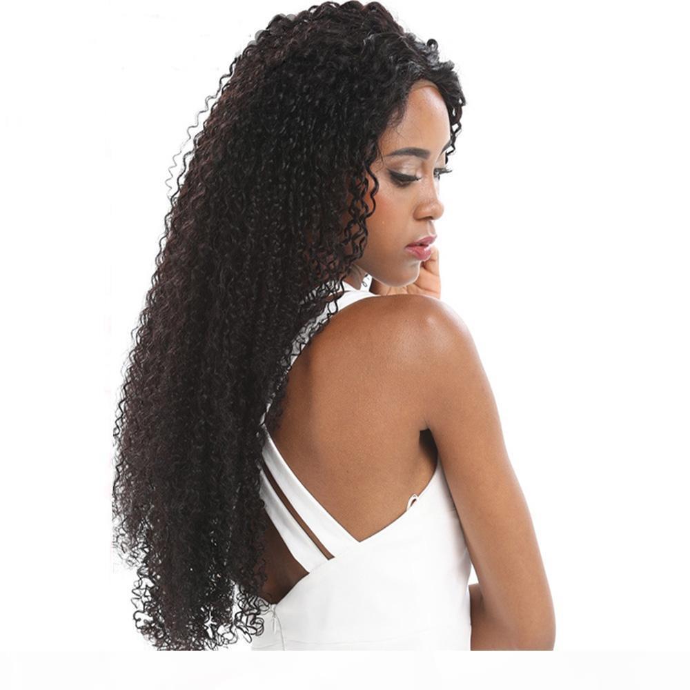 Бразильские странные кудрявые человеческие волосы пучки индийский малазийский 100% необработанные человеческие волосы плетения черного цвета 8-28 дюймов