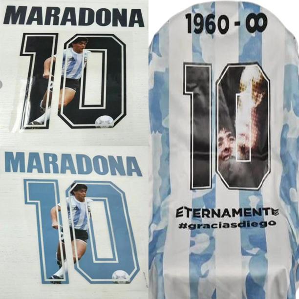 1986 Argentine Maradona FONT 87 88 NAPOLI RETRO MARADON MARADON MARADON TAMEST STACHING Sticker Lettres imprimées Chaudiques impressionnés Vintage Football Patch