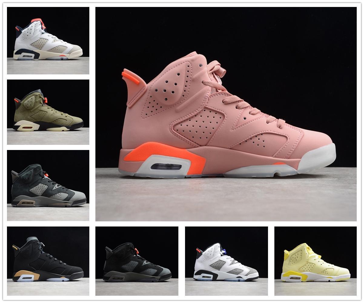 Air Jordan 6 6s retro AJ 6 Jumpman Stock x Travis Scott 6 6s Hommes Chaussures de basket-ball 3M réfléchissant infrarouge Ducks entraîneurs des hommes de chaussures de sport