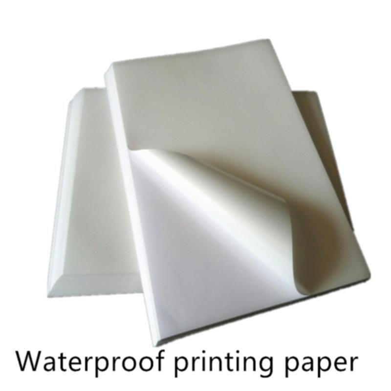 50 листов A4 Лазерный струйный принтер Водонепроницаемая печатная бумага Copier Craft Paper прозрачный белый самоклеящийся наклейки этикетки