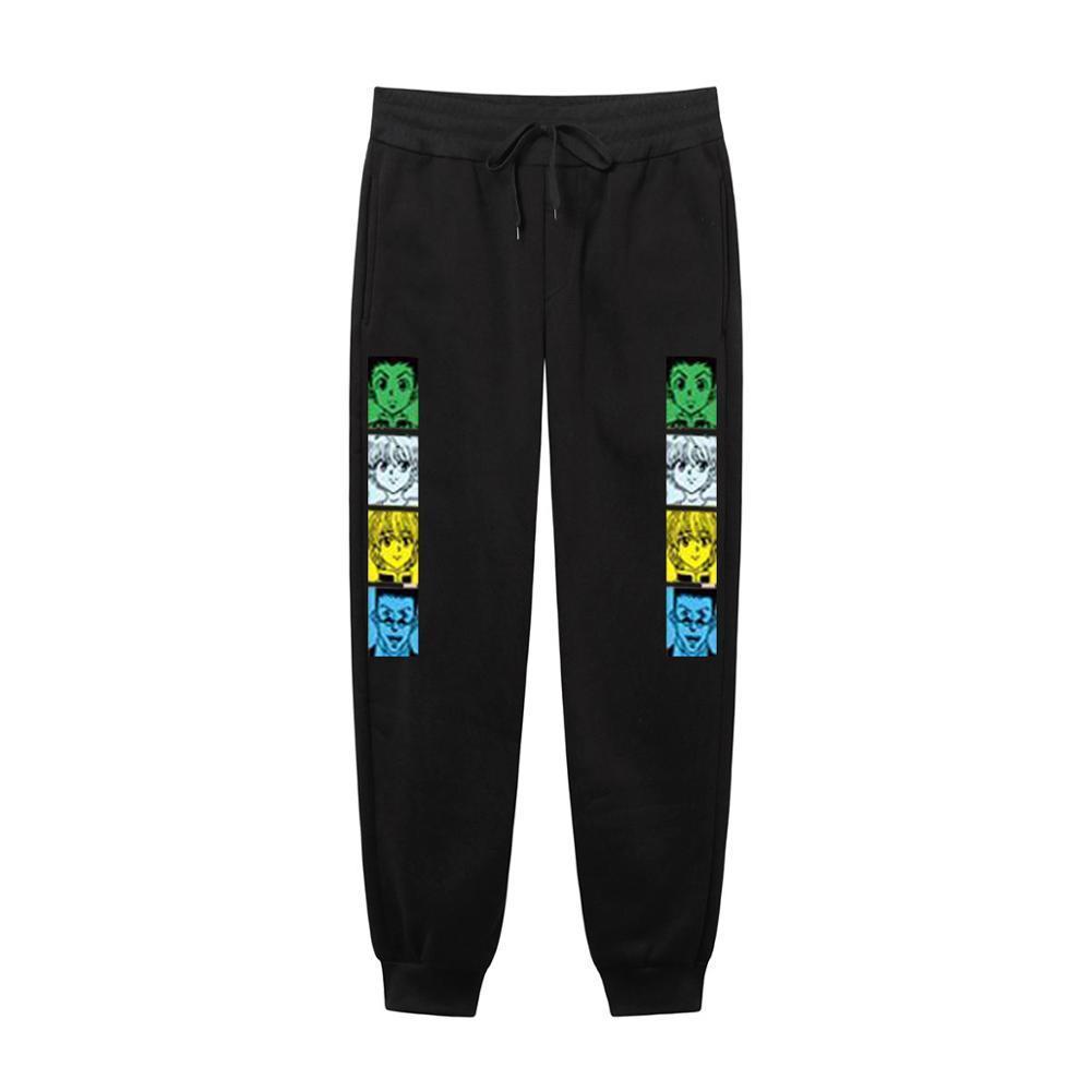 2021 Yeni Japon Anime HunterxHunter Streetwear Joggers Erkekler Rahat Sweatpants Vücut Geliştirme Pisti Pantolon 71ox