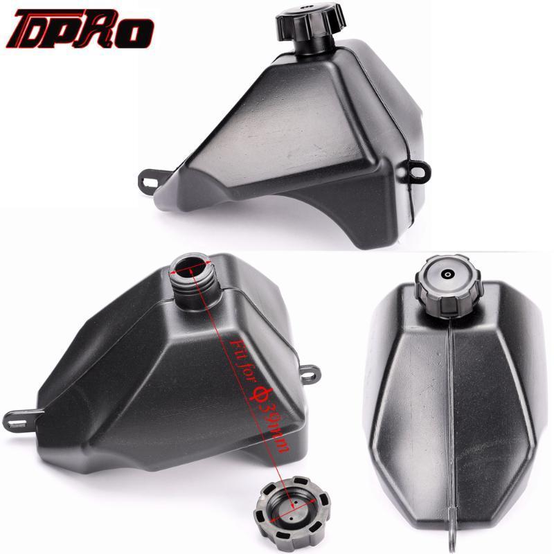 TDPRO 2.5L Motosiklet Plastik Petrol Gaz Yakıt Tankı + Kap 50cc 70 90cc 110cc 125cc Quad Pit Dirt Bike ATV 4 Wheeler Buggy