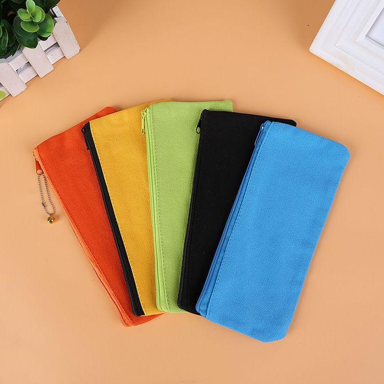 Carteras lienzo lápiz papelería regalo moneda cremallera llano organizador bolsa embrague carteras casos de almacenamiento bolsa niños bolsas bolsas GGA1644 EOLNV