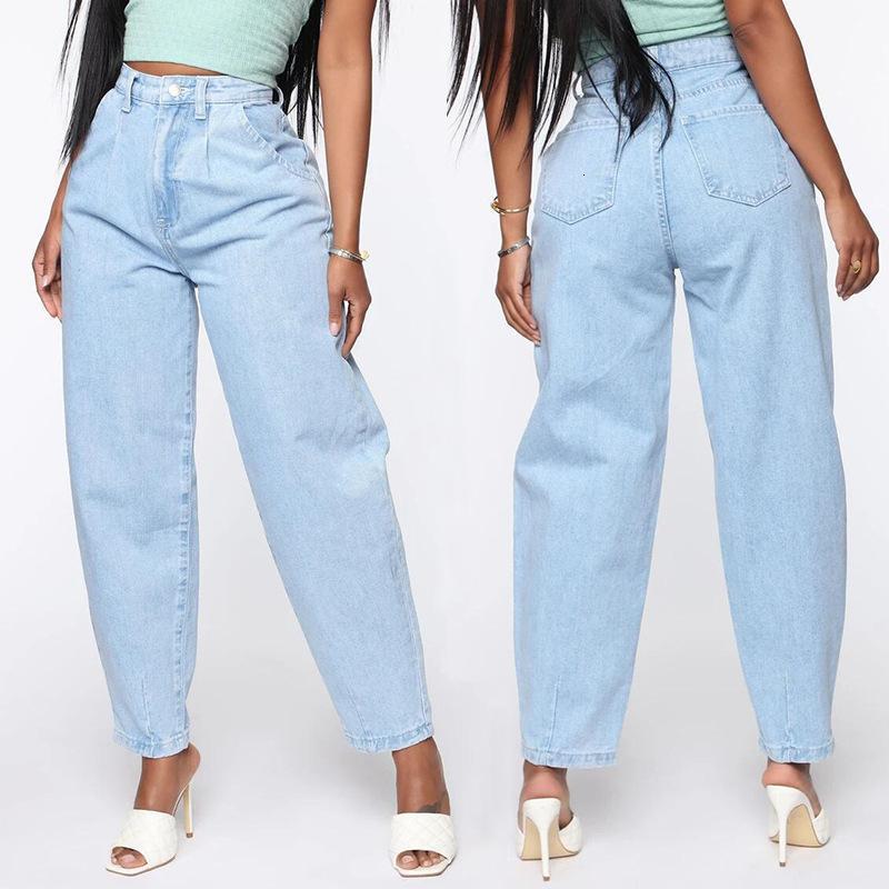 2021 Women's Jeans Light Blue Wide Leg