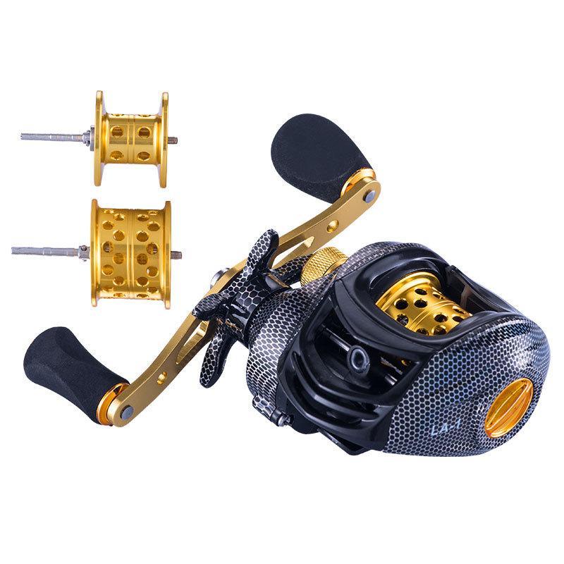 6.3 : 1 Baitcast Fishing Reel 13 베어링 대용량 가벼운 왼손잡이 오른 손잡이 미끼 주조 휠 도구 T191015 176 x2