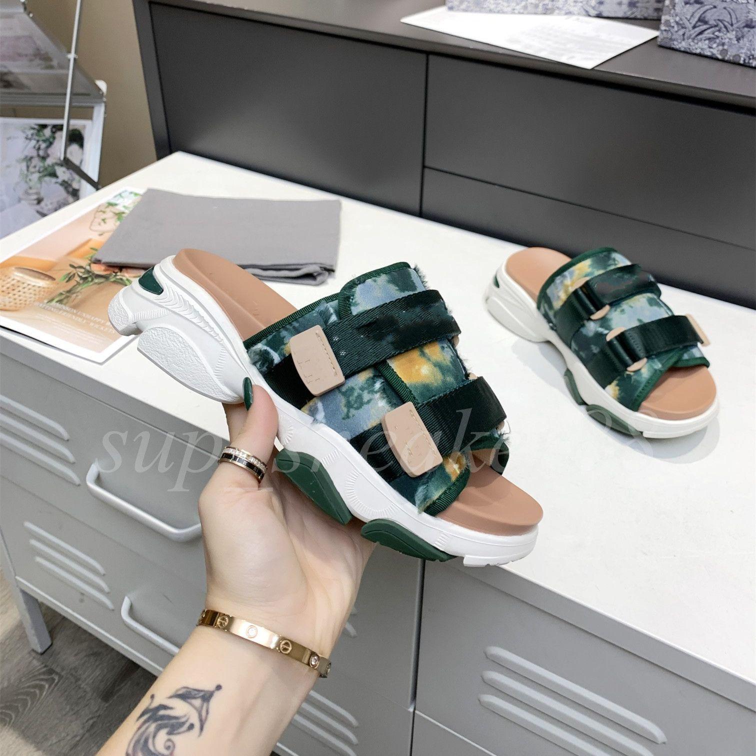 Sandalias Slippers Oro Patente Inlaid Para Mujer Tobillo Lace Up Mujeres Gruesa Parte Impermeable Falda de fiesta de tacón alto con caja de caja