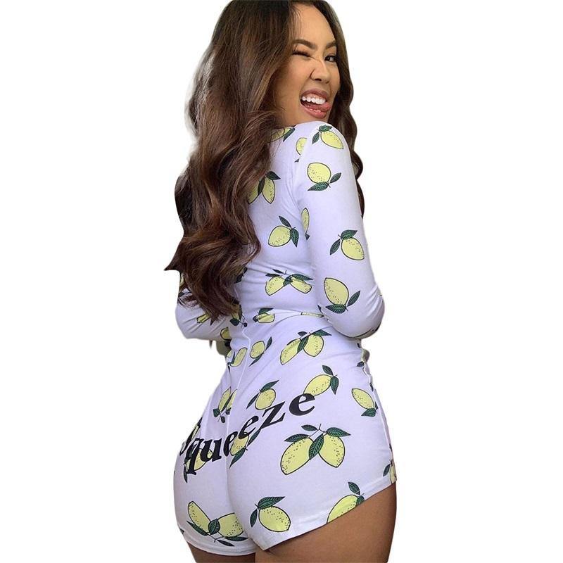 Body Sexy Body Manches longues De Deep V ecc Col Tracksuits Modycon Stretch Jusqu'ici TOP TOP TOP COURT ROMPER PYJAMAS FEMMES Jumpssuit Combinaisons S-2XL # 1471
