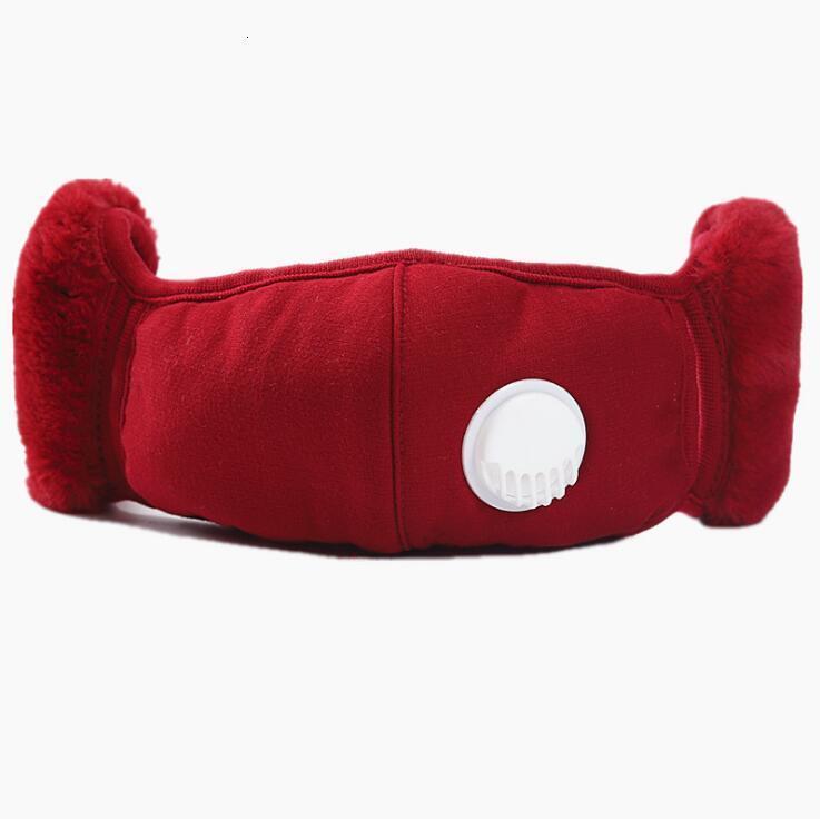 Avec masque d'oreille dans 1 cache-cache 2 masque de protection en peluche PM2.5 Masques d'embouchons épais et chauds d'hiver bouche-muffle EA