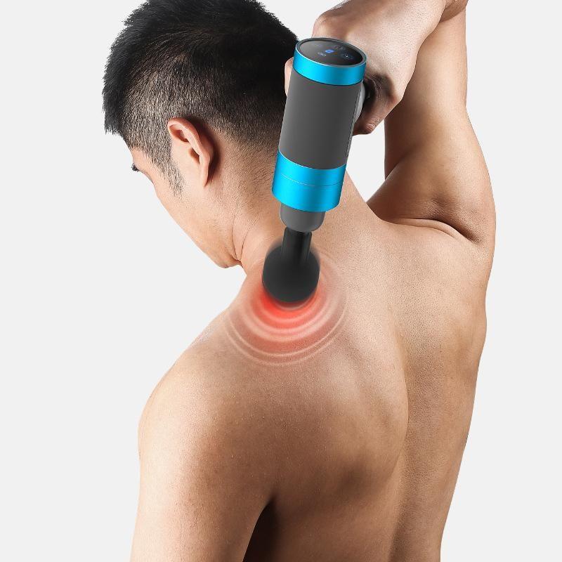 تدليك العضلات الكهربائية بندقية الأنسجة العميقة مدلك العلاج بندقية ممارسة الإغاثة الجسم تشكيل معدات اللياقة البدنية