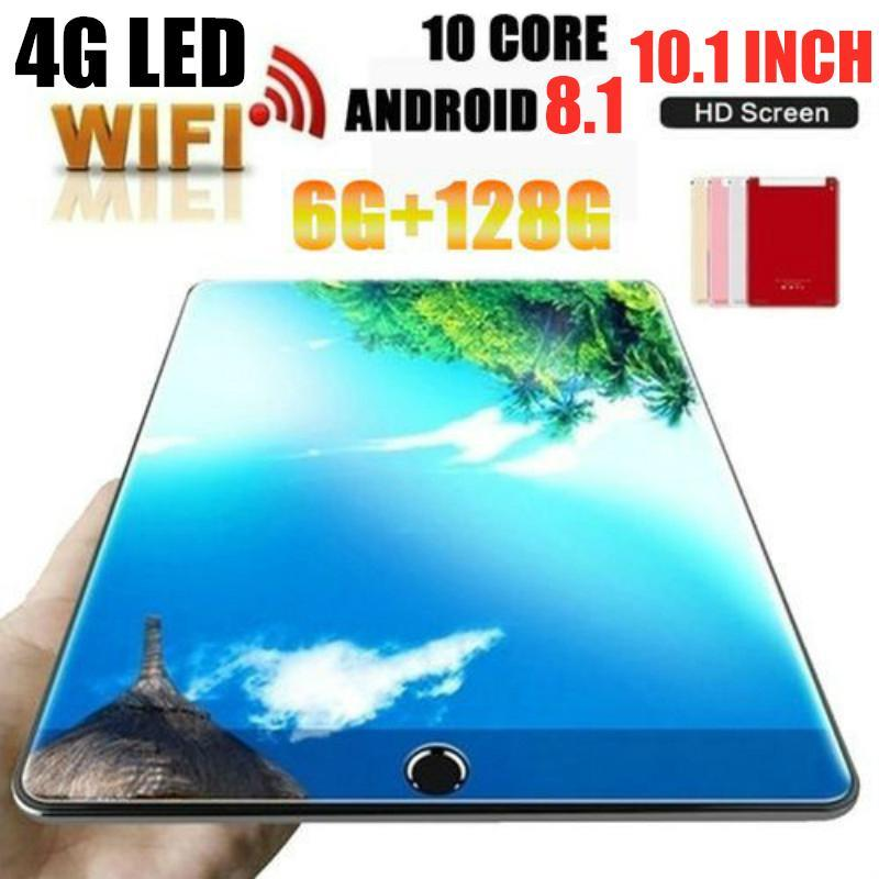 2020 New Google Android 8.0 10 inch Core Tablets 4G LTE Phone Call Tablet 6GB 128GB Dual SIM 5.0MP Wifi GPS Pad