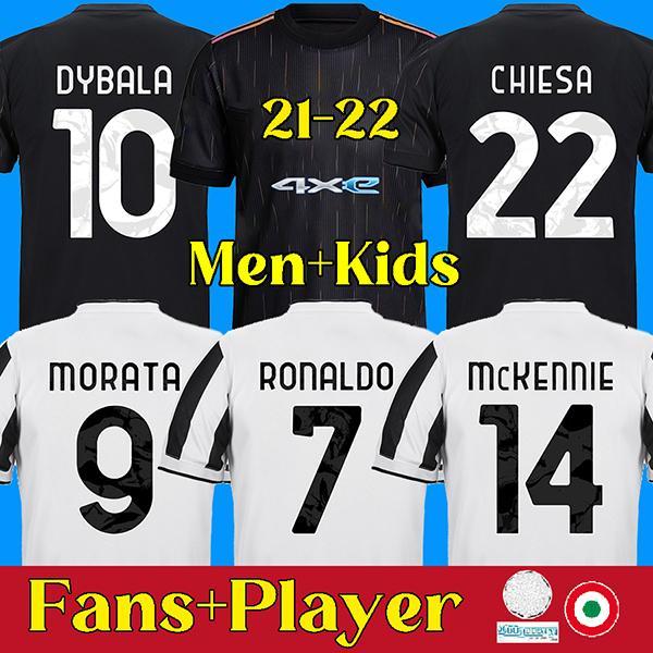 RONALDO DYBALA CHIESA 21 22 juventus maillot de football DE LIGT maillot de juventus MORATA KULUSEVSKI ARTHUR juventus soccer jersey 2020 2021 BERNARDESCHI football shirt