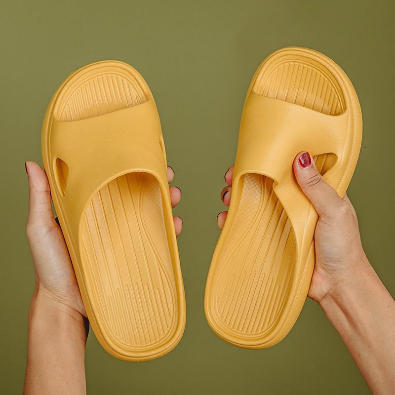 2021 New Eva Slides Indoor Women Shoes Bathroom Shower Home Slippers Men Anti-slip Solid Summer Sandals Bath Soft Hrc7
