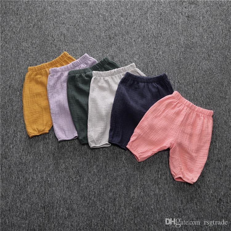 KT INS Pantalones para niños Lino orgánico Algodón de algodón Primavera Niños Pantalones Unisex Pantalones para niños Pantalones para 1-4T