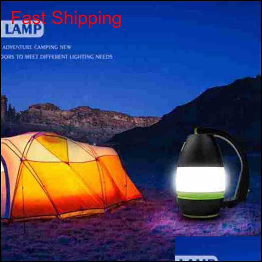 Lámparas de mesa multifuncionales 3 en 1 lámpara de tiendas de campaña LED Lámpara de camping Luz de emergencia Inicio USB Puerto recargable QYLLYP HOTSTORE2010