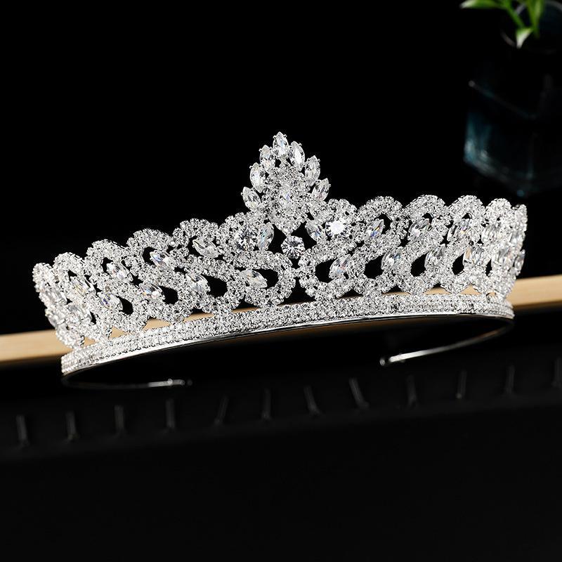 01 2021 Yeni Zirkon Taç Alaşım Rhinestone Gelin Stil Düğün Headdress