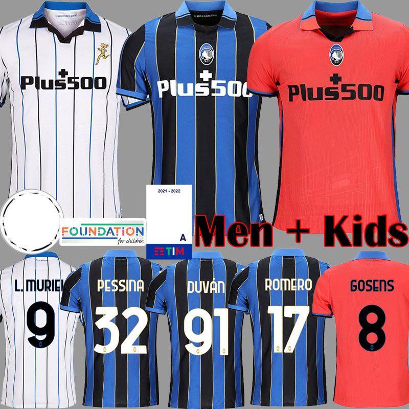 Atalanta FC Camisetas de futebol GOMEZ 2020 21 MURIEL ILICIC DE ROON DUVAN Atalanta BC Homens crianças kit Camisas de futebol Uniformes