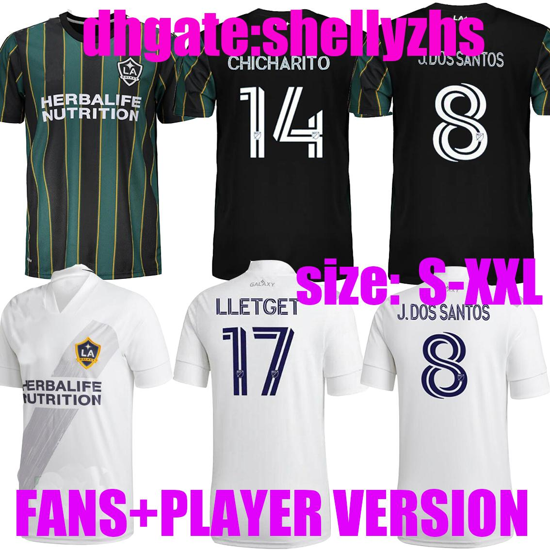 Мужчины + дети 2021 2022 Лос-Анджелес Л.А. Галактика Футбол Джерси MLS Player Версия Chicharito J.dos Santos Kljestan 21 22 Loltget Футбольные рубашки
