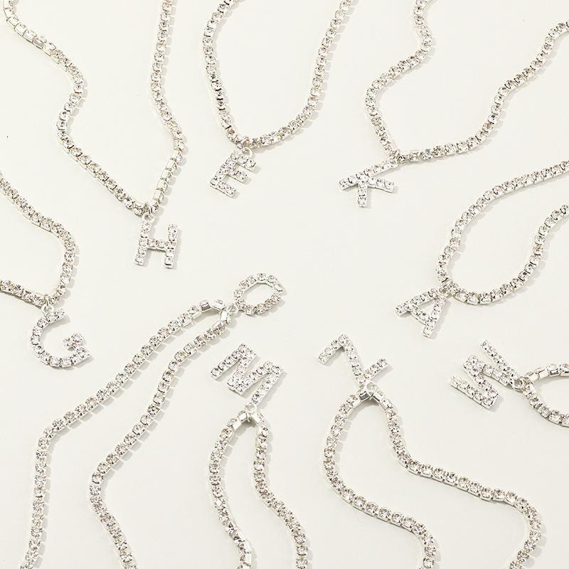 NZ1822 takı moda 26 harfler tam elmas gerdanlık kolye